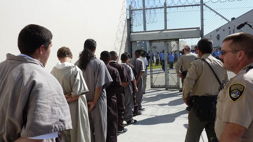 Teens enter Corcoran Prison