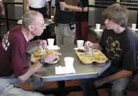 Teen shares meal with Lieber inmate