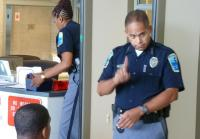 Master Jail Officer Rosario talks to teens