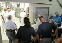 Prison tour moves to kitchen