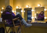 Sadie relaxes in dressing room