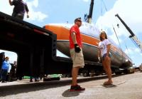 Chris loads propellers of DC-7 plane