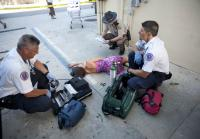 First responders survey body of senator's mistress