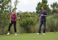 Heather and Longworth play round of golf