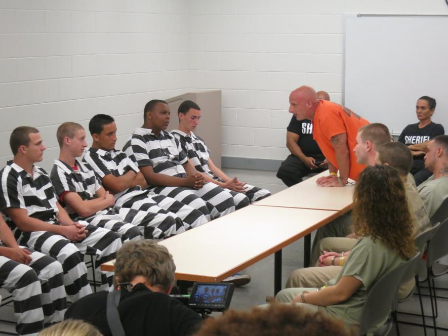 Inmate Dakota Joe shocks the teens.