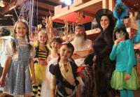 Kay and Kids in Costumes